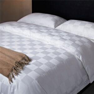 Bed Sheet U2013 100% Cotton U2013 10 Cm Check Box Design  King Size